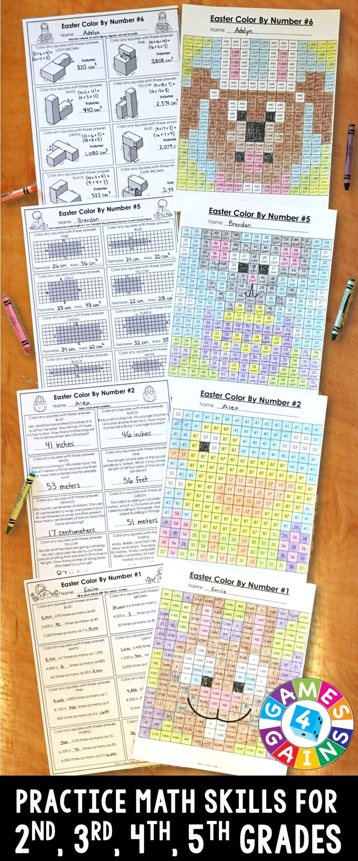 best ideas about math skills math night th these easter math color by number activities are the perfect way to review key math skills this month as one teacher said my kids loved these
