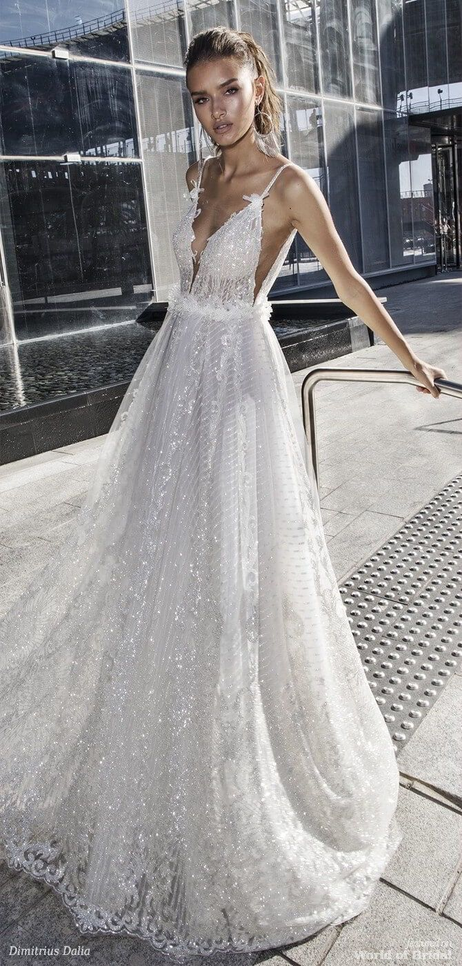 Dimitrius Dalia 2018 Wedding Dress: Beautiful Wedding Dresses With Diamonds At Websimilar.org