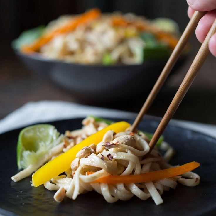 Portable Recipe: Cold Noodle Salad with Creamy Peanut Sauce