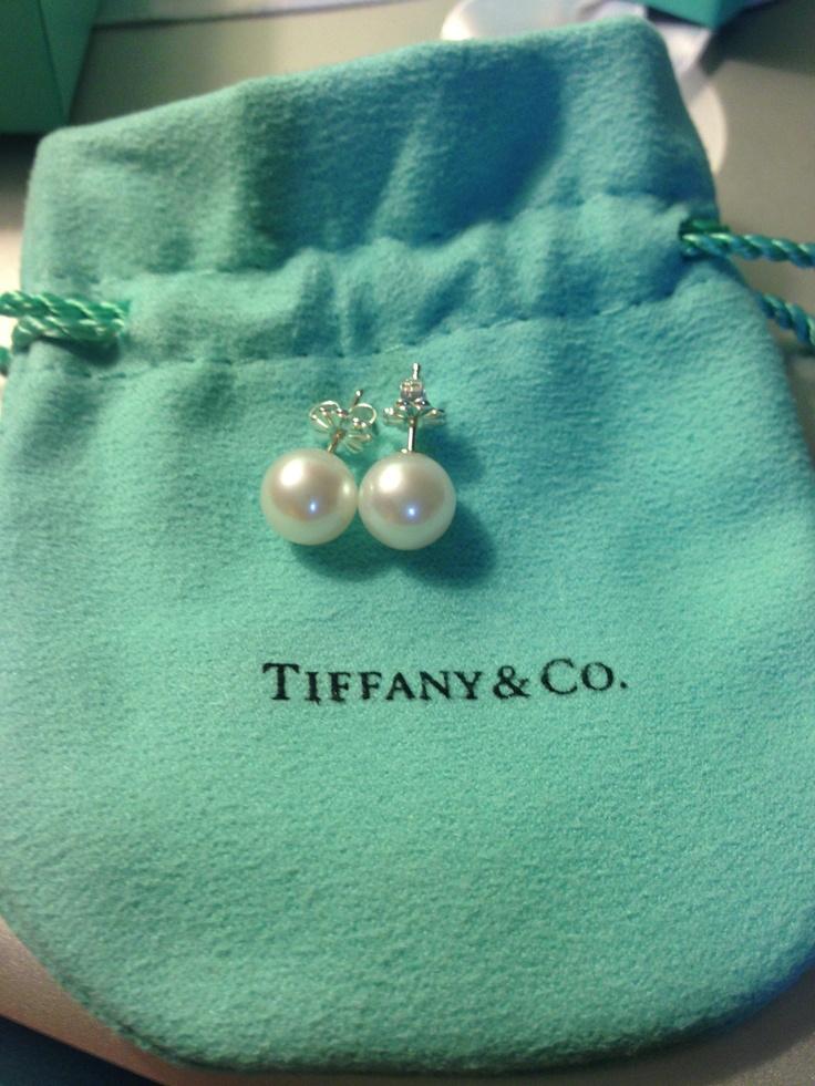 Grad School Graduation Gift Tiffany Pearl Studs Tiffanys Pearls