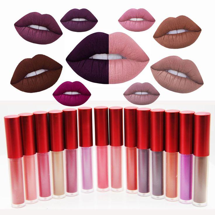 Matte Lipstick Kit Set Women Lips Makeup Beauty Maquiagem Lip Gloss Liquid Lip Balm Lipgloss Red Make up Batom Christmas Gift