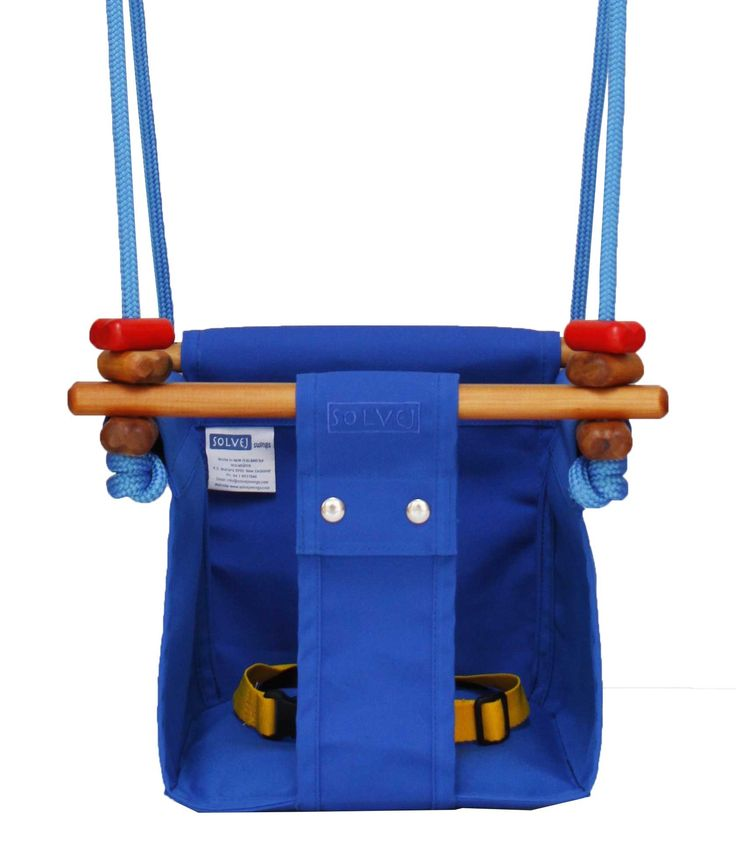 Solvej Baby and Toddler Swing Pacific Blue Close Up