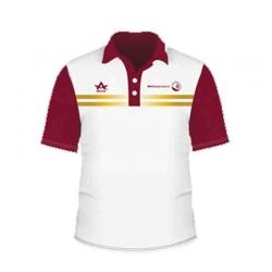 Smart Red and White Polo T-shirt
