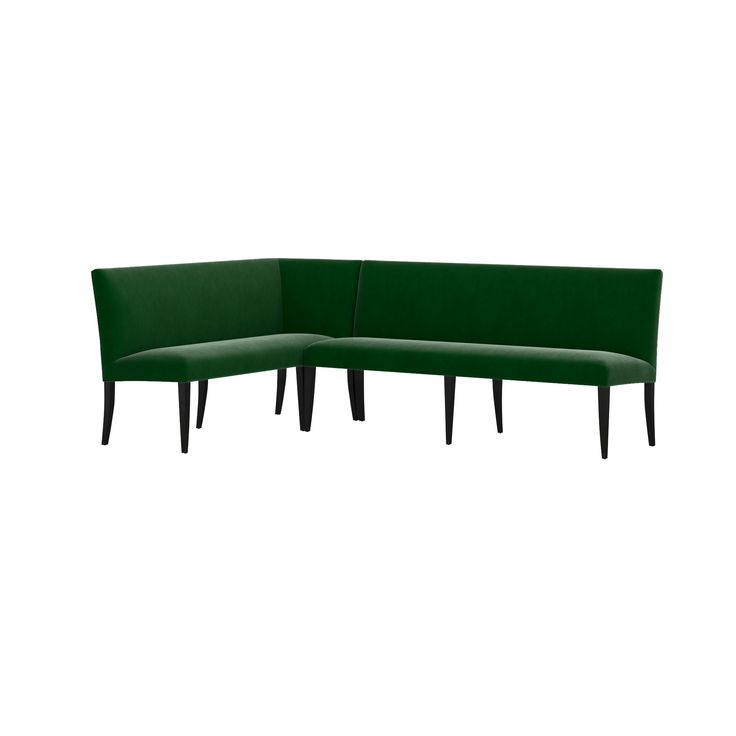 """Shop Miles Large Right Facing Corner Banquette.  Compose custom dining room seating with the our Miles right facing corner banquette, created from pairing our Miles Right Arm Banquette Bench and 76"""" Grand Dining Banquette Bench."""