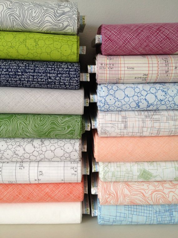 "Is this fabric available anywhere?  I'm in love with the ""Ledger""!!!  Architextures Fat Quarter Bundle of 17 by Carolyn Friedlander"