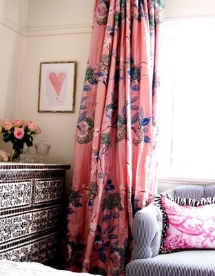 that curtain and the chest of drawers! wow