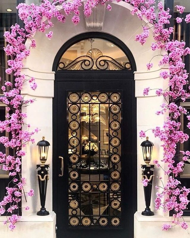 #homes #pink #black #architecture #decor #style #flowers #floral #pretty #entrance - Architecture and Home Decor - Bedroom - Bathroom - Kitchen And Living Room Interior Design Decorating Ideas - #architecture #design #interiordesign #diy #homedesign #architect #architectural #homedecor #realestate #contemporaryart #inspiration #creative #decor #decoration