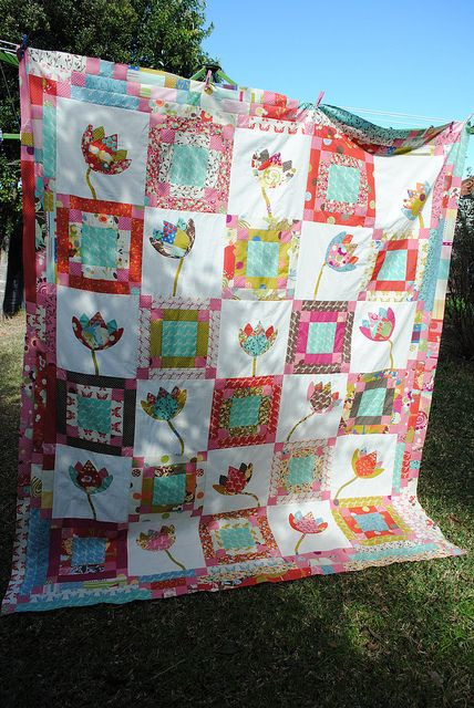 Finished top ~ Fanciful Flowers in wonderland | Flickr - Photo Sharing!