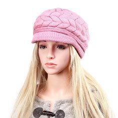 #Banggood Женщины дамы береты вязаные крючком шапочка шапки плетеный мешковатую все спички стюардесса шляпы (1117212) #SuperDeals