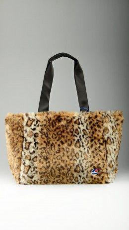 Animal pattern K-peluche small shopper