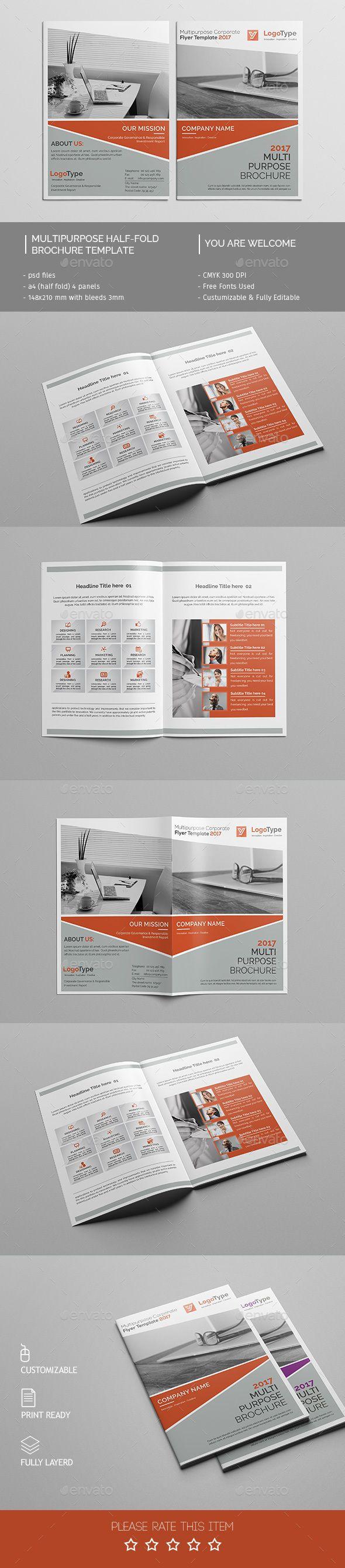 Corporate Bi-fold Brochure Template PSD #design Download: http://graphicriver.net/item/corporate-bifold-brochure-template-03/14311432?ref=ksioks