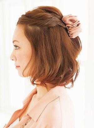 伸ばしかけのボブヘアでも出来る、可愛いヘアアレンジ♡ - NAVER まとめ