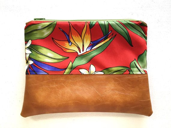 VIDA Leather Statement Clutch - Bird of Paradise Clutch by VIDA mn7aO8G
