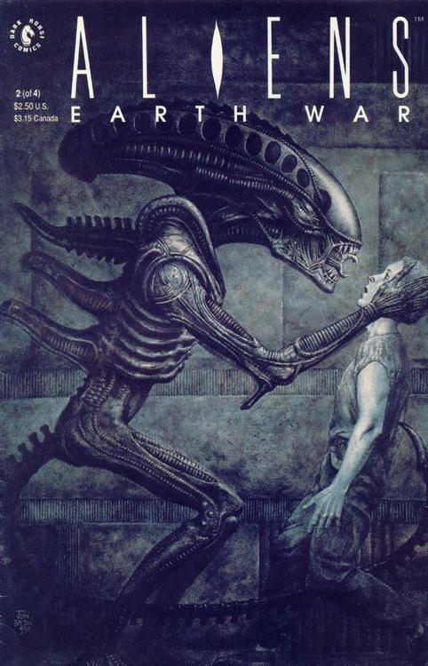 Aliens: Earthwar #2, July 1990, cover by John Bolton