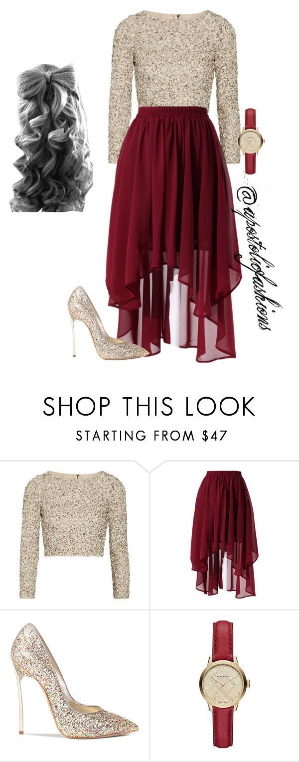 Apostolic Fashions #1093 by apostolicfashions on Polyvore featuring Alice + Olivia, Chicwish, Casadei, Burberry, women's clothing, women's fashion, women, female, woman and misses