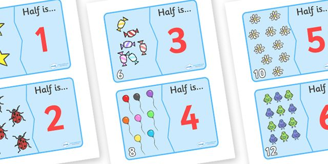 Twinkl Resources >> Halving Matching Cards  >> Thousands of printable primary teaching resources for EYFS, KS1, KS2 and beyond! halving, maths, cards, flash cards, cards, matching, activity, halves, numeracy, adding, multiplication, calculation, foundation numeracy,
