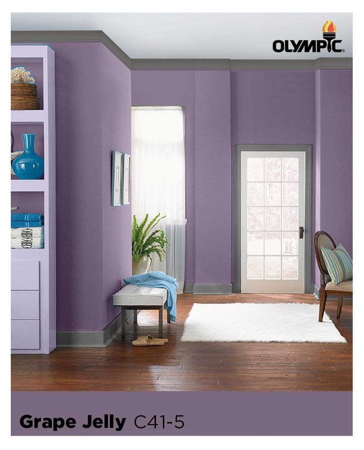 Color Tip : Purple Walls Are Gorgeous U0026 Sophisticated When Paired With More  Neutral Organic Colors