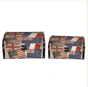 Custom Decorative Storage BoxesImpressive Custom Decorative Boxes for your choice, set of two feature marvelous storage space, put them on your table to keep your messy daily items organized.