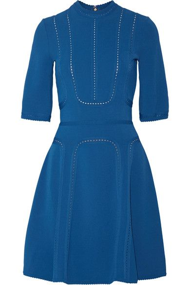 Elie Saab - Pointelle-trimmed Stretch-ponte Dress - SALE20 at Checkout for an extra 20% off