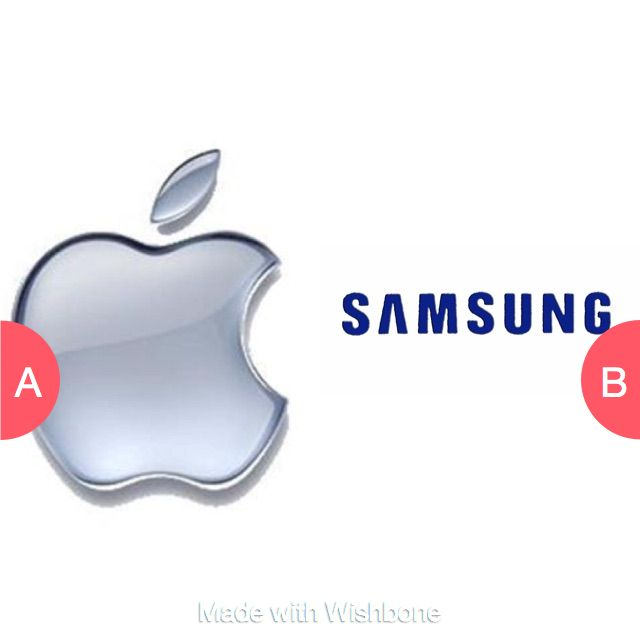 Apple or Samsung? Click here to vote @ http://getwishboneapp.com/share/1721260