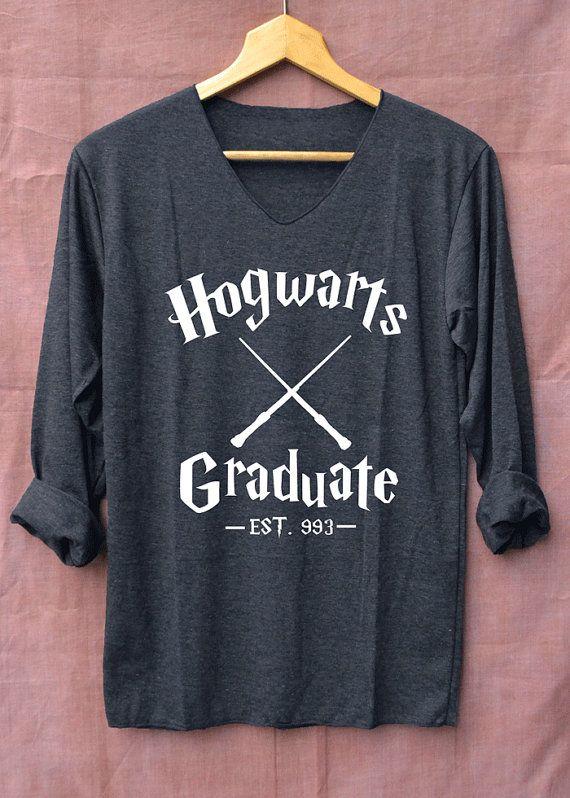 Diplômé de Poudlard Harry Potter chemises noir à par topsfreeday