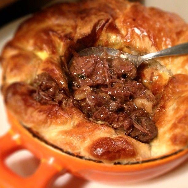 Comforting Beef & Guinness Pie. Recipe from Edinburgh Chef Tom Kitchin's latest book!