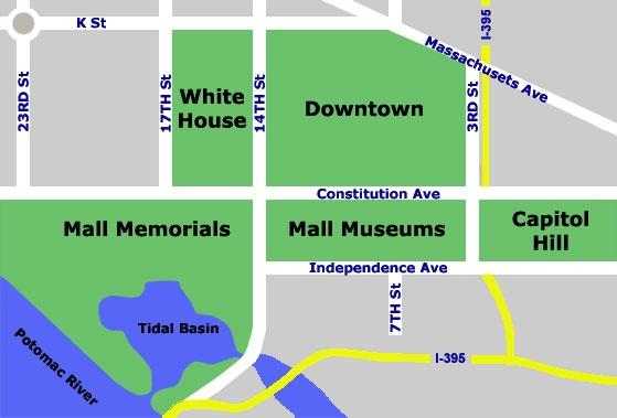 Washington DC Tourist Map