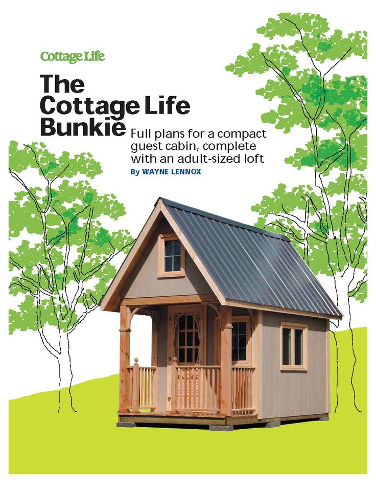 29 best cottage bunkie images on pinterest small cabins for Bunkie floor plans