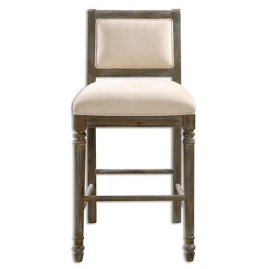 runako cream chenille 30 inch high barstool uttermost bar height to 36 inch bar stool