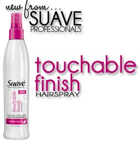 Suave Touchable Finish Hairspray (click through for a review!) #hair #beauty $3
