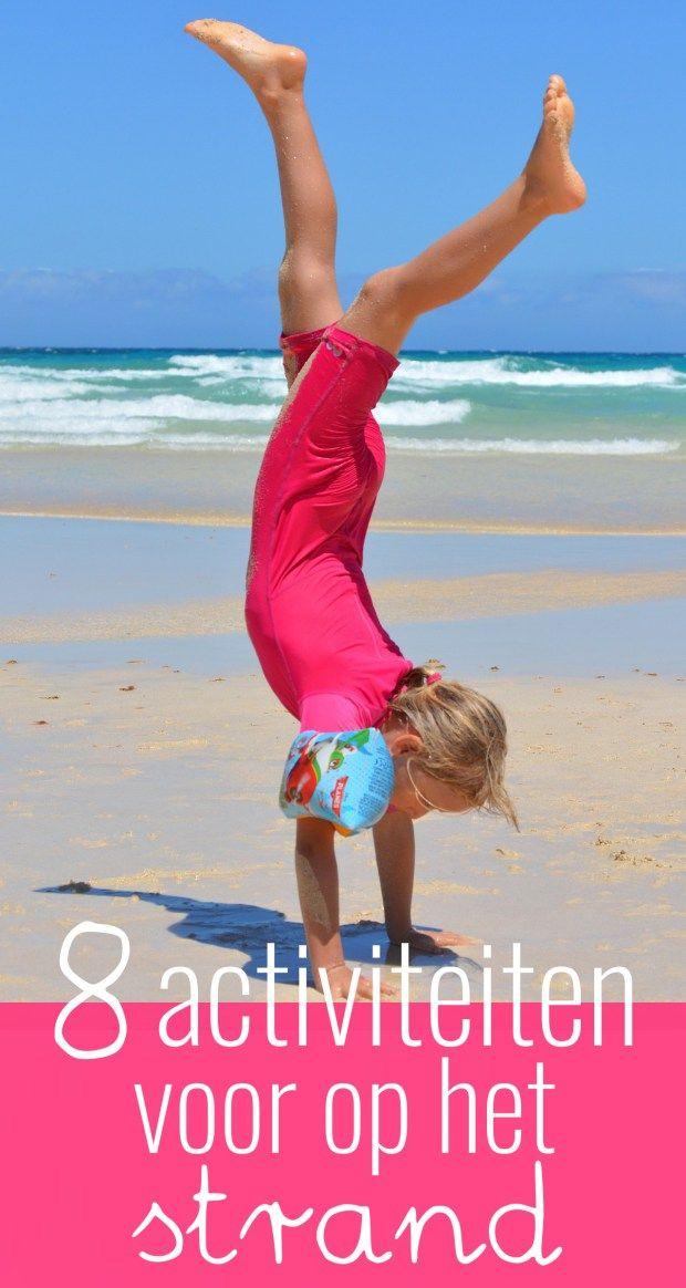 Op het strand kun je allerlei verschillende activiteiten ondernemen. Ik bedacht er acht en deel ze graag met je.