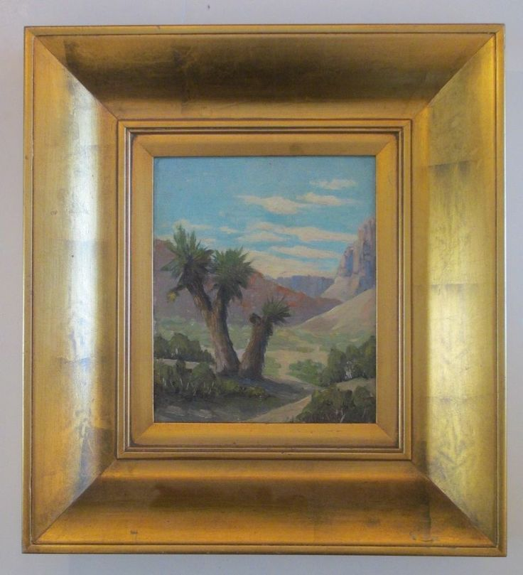 antique early california yucca desert plein air impressionism landscape painting