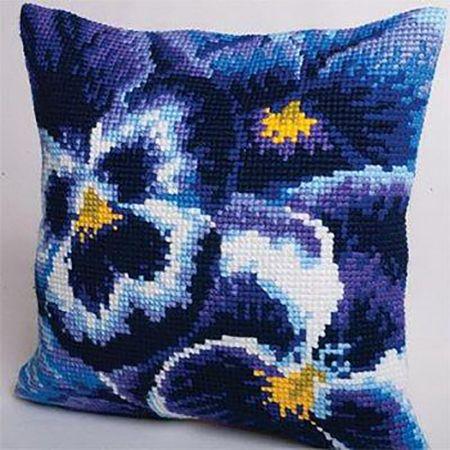 Вышивка на подушке: полевые цветы - поделки и самоделки своими руками