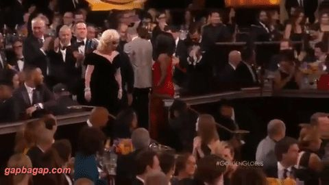 Funny GIF Of Leonardo DiCaprio Defends His Reaction To Lady Gaga's Win