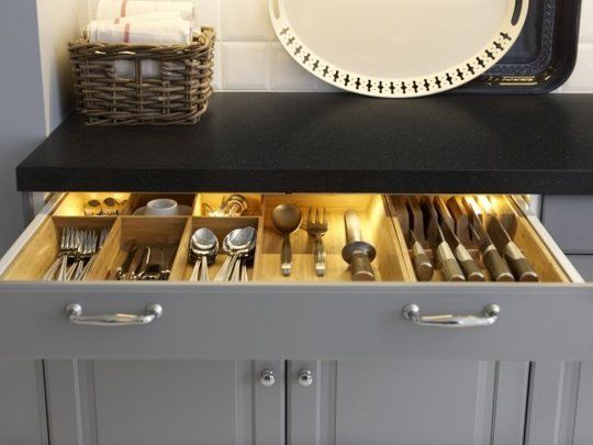 Why is this drawer so soothing to me??  The Inside Scoop on IKEA's New Kitchen Cabinet System: SEKTION