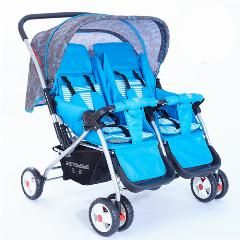 [ $35 OFF ] Cheap Luxury Aluminum Foldable Twin Baby European Stroller Infant Prams And Pushchairs Two Seat