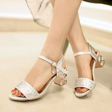 Shoes For Women Cowhide Leather Platform Slippers Sandals Slippers Office Career Dress Casual Silver Gold