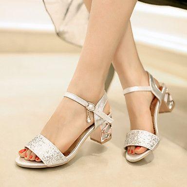 Women's Shoes Stiletto Heel Gladiator Sandals Wedding/Office & Career/Dress  Blue/Silver/Gold