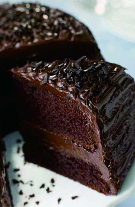 Old Fashioned Chocolate Buttermilk Cake - butter, cake, chocolate, dessert, milk, recipes