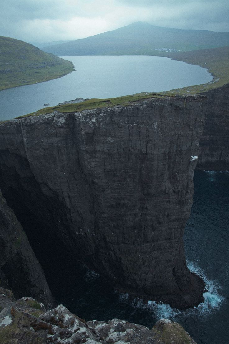 lovely..Lake Sørvágsvatn, Faroe Islands - there are some amazing places in the world still to see
