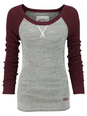 Superdry Glitter raglan top Grey - House of Fraser- Why are the clothes I like always on the wrong continent?