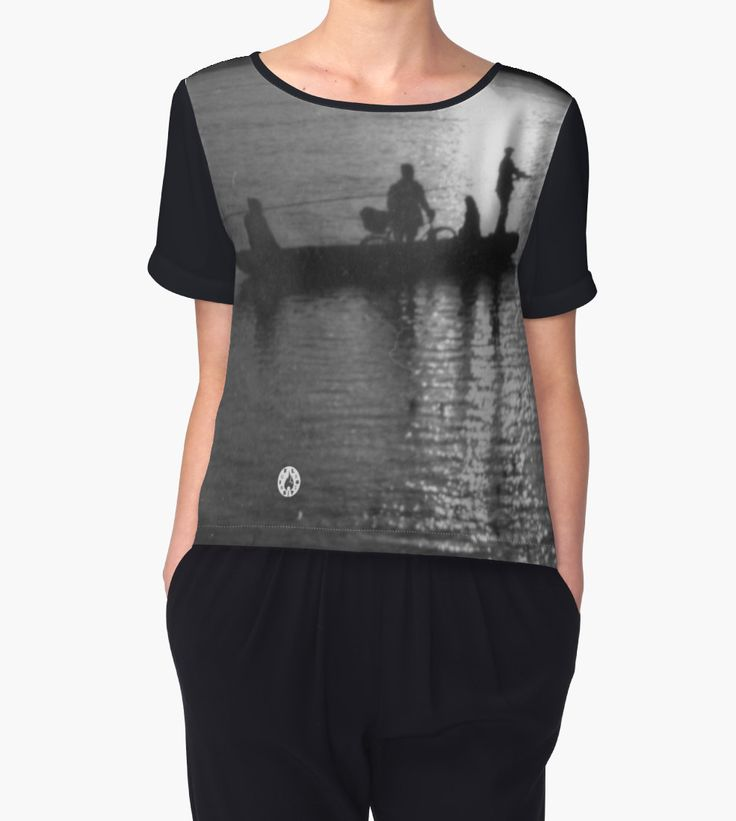 """Cable ferry"" Chiffon top by Fluxionist on Redbubble"
