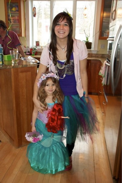 DIY Mermaid Costume for birthday girl, birthday girl's Mom or sisters, or even Halloween!