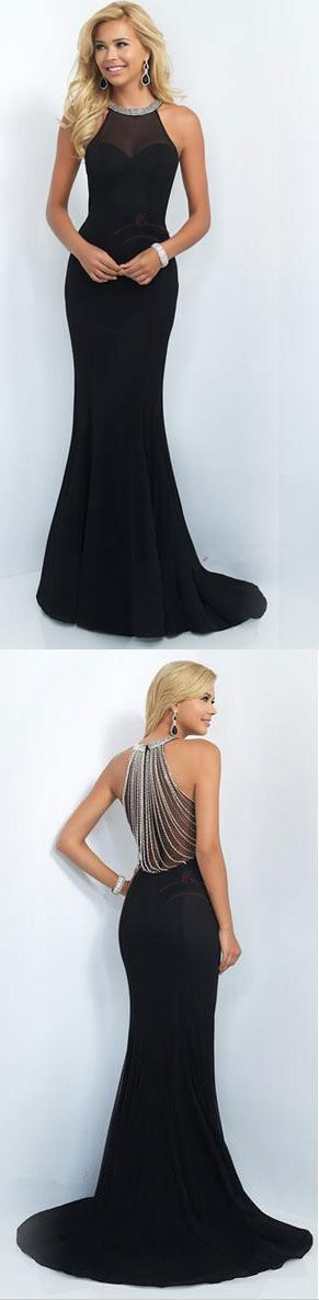 Elegant Prom Dresses,Black Corset Prom Dresses,Halter Prom Dresses,Simple Prom Dresses,Long Dresses From Prom - Thumbnail 3