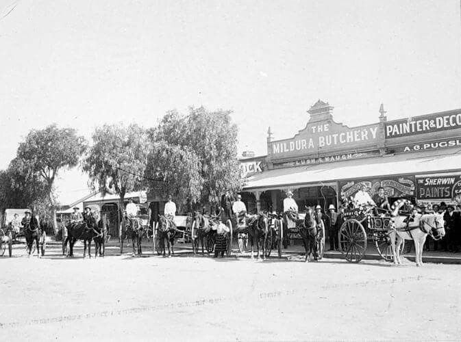 Mildura in Victoria in 1910.