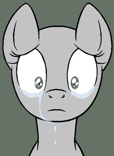 Sad Pony Base MS Paint Version By Ask Flare22