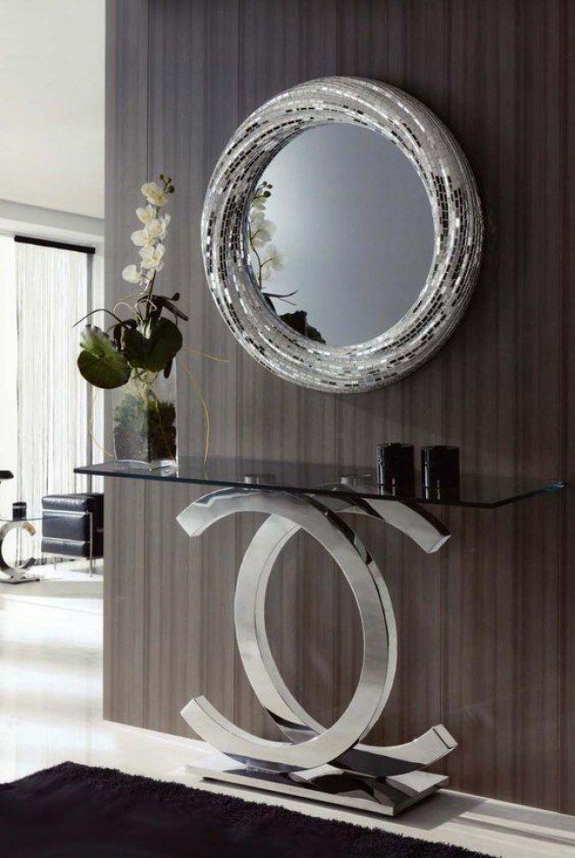 Decoraci n plateada los tonos met licos se convierten en for Espejos rectangulares plateados