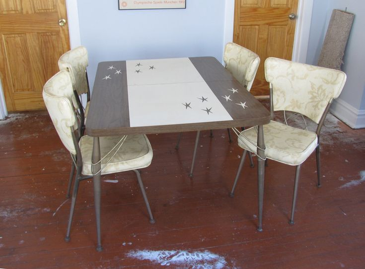 Atomic 1950s Formica Dinette Table With Four Chairs. $380.00, Via Etsy.  Retro FurnitureKitchen ...