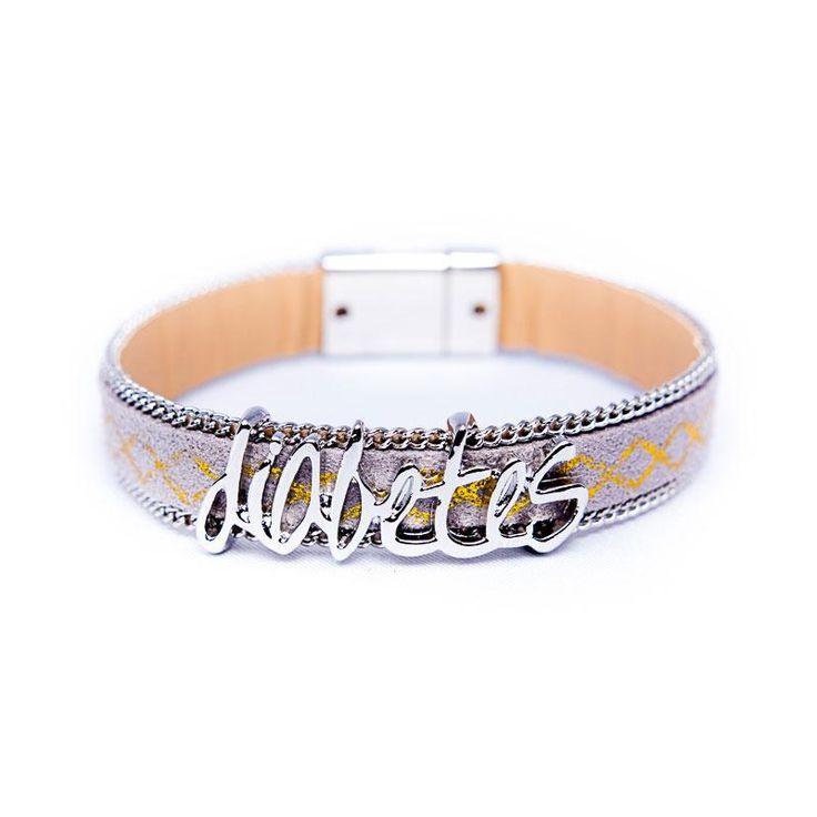 Diabetes Bracelet - Simple but perfect, Silver