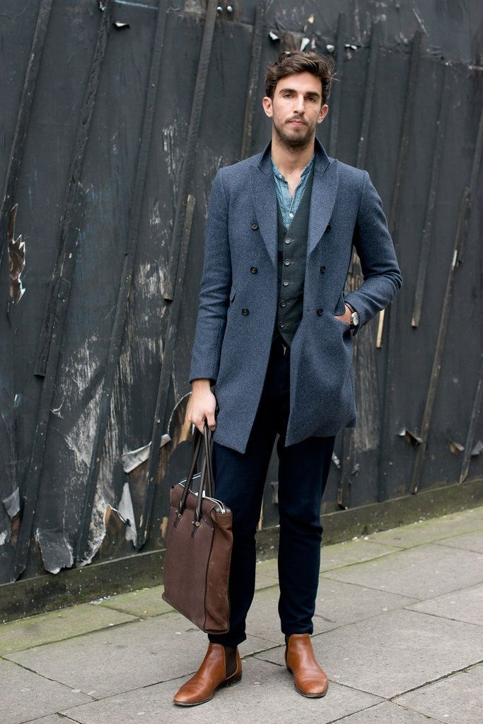 Menswear Mens Style Pinterest Dark Brown Boots And Chambray